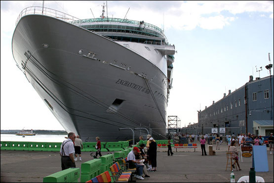 Hulking cruise ships, often bigger than the largest buildings in Portland, regularly dock in the city. These ships pour tourists onto Portland's streets for a day trip before continuing up to Bar Harbor, Maine or Nova Scotia.