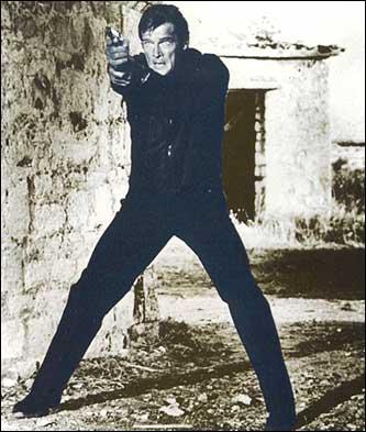 Roger Moore as James Bond