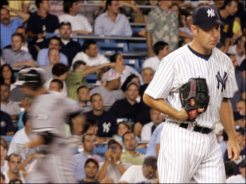 The lefthanded reliever, who was with the team since July 2002, was released in July after putting up a 7.65 ERA in 37 innings of relief. He then signed with the Yankees and didn't fare much better.