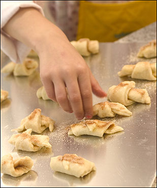 Petite rolls, which can be made the night before, are just the right size for small hands busy in the kitchen.
