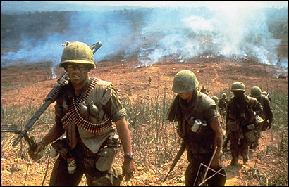 US soldiers on the ground in Vietnam in 1968.