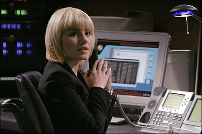 Elisha Cuthbert plays Kim, Jack Bauer's daughter, on '24.' Season five begins tomorrow.