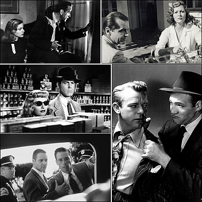 Film noir flourished in the '40s and '50s, but filmmakers have been nostalgic for its images and themes ever since. Clockwise from top left: ''The Big Sleep'' (1946), ''Chinatown'' (1974), ''T-Men'' (1947), ''L.A. Confidential'' (1997), and ''Double Indemnity'' (1944).