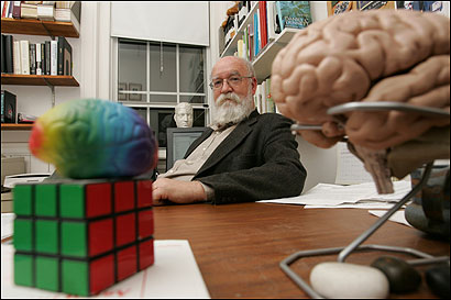 not among the believers. Daniel Dennett, Professor of Philosophy and Director of the Center for Cognitive Studies at Tufts University, in his office on campus. (© Rick Friedman)
