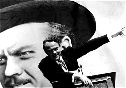 What's missing from this picture? Orson Welles directed and starred in 'Citizen Kane' - but Herman Mankiewicz (not shown) wrote it.