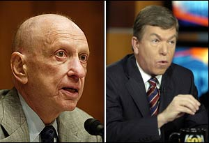 Representative Roy Blunt (right) of Missouri and Senator Arlen Specter of Pennsylvania have both earmarked funding for projects pushed by lobbying firms that employ former members of their staff.