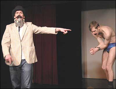 The Walsh Brothers perform at the People's Improv Theatre in Manhattan on February 18, 2006.