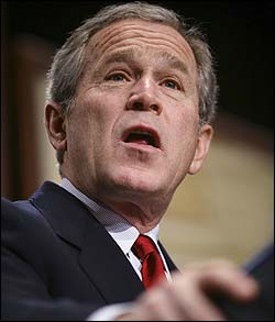 President Bush urged the international community to step up pressure on Hamas to renounce violence.