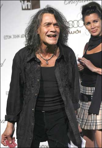 Musician Eddie Van Halen arrives at the 14th Annual Elton John Academy Awards.