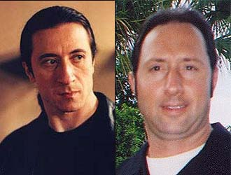 Janine Antolini says her husband, Marco Antolini, right, (both from Melrose) looks like Furio.