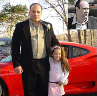 Robin Hirsch of Armonk, NY sent in this picture of David Hirsch, who looks like Tony Soprano (pictured on right).