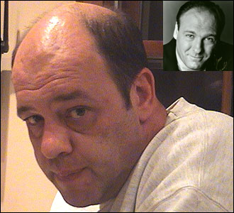 Diana Prizand of Needham submitted this photo of her husband, Alex, who she says has been mistaken for James Gandolfini (aka Tony Soprano), upper right.