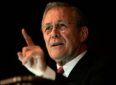 To reinforce the assertion that Donald H. Rumsfeld listens to military leaders, the Pentagon released a ''fact sheet'' yesterday stating that Rumsfeld had met 139 times with members of the joint staffs and 208 times with combat commanders since 2005.