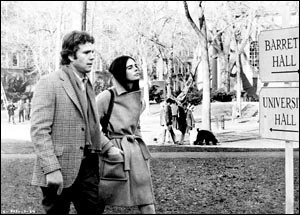 Many scenes in 1970's 'Love Story' (starring Ryan O'Neal and Ali MacGraw) were filmed at Harvard and around Cambridge. Since the tearjerker's blockbuster release, Hollywood's love affair with the Hub has been on-again, off-again.