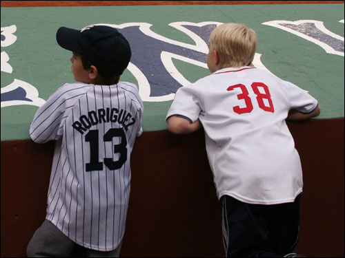 As is always the case when these two teams play in Boston, Fenway was filled with a mix of Red Sox and Yankee fans, young and old.