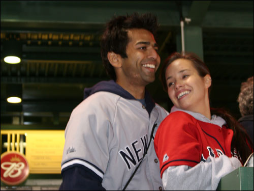 Jignesh Desai of Boston said the Yankees will still take the division but the injury to Hideki Matsui was a killer. Katie Kitendaugh is not sure what she's doing at the game with a Yankees fan.