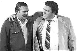 That same year (a big one for robot-related lawsuits), George Wendt and John Ratzenberger, the actors who portrayed Norm Peterson and Cliff Clavin on the TV show ``Cheers,' sued Paramount Pictures for licensing a series of ``Cheers' airport bars featuring a pair of animatronic likenesses of the two characters. Paramount countered that it owned the rights to the show itself. In 2001, the two sides settled, leaving unanswered the question of whether an actor's right of publicity can trump a studio's copyright claims.