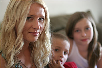 Four-time egg donor Jamie Galbraith, who has two children of her own, earns $15,000 per 'harvest' helping others.