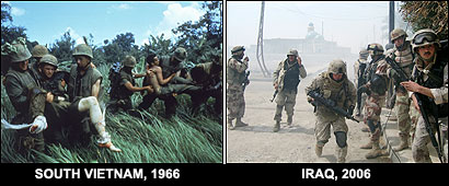 In Vietnam, the US entered a divided country and left behind a nasty tyranny. In Iraq, the US has unseated a nasty tyranny but may leave behind a divided country.