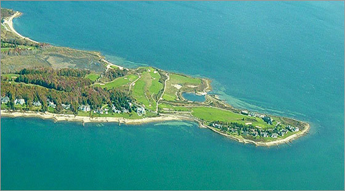 The Kittansett Club in Marion sits at the end of Butler Point, which extends several miles into Buzzards Bay, making for scenic, yet challenging golf.