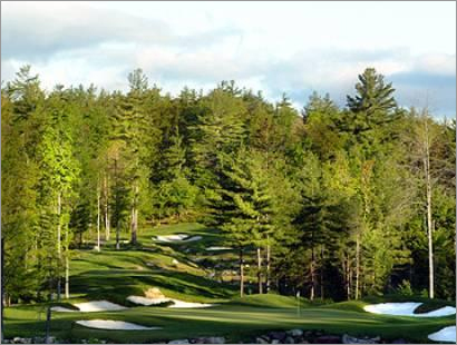 Enjoy mountain vistas playing at the Lake Winnipesaukee Golf Club in New Durham, N.H.