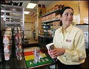 Dunkin Donuts employee Heather Kelley