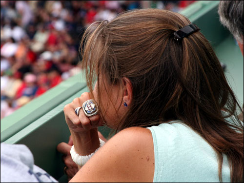 Not even the good karma from Fenway Park architect Janet Marie Smith's 2004 World Series ring was enough to spark a Red Sox rally in the final game of the series.