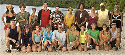 "The cast of the new season of ""Survivor,"" which will group contestants by their race."