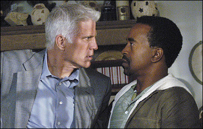 Ted Danson (left) and Tim Meadows, as a therapist and his patient, in ABC's new sitcom, 'Help Me Help You.'