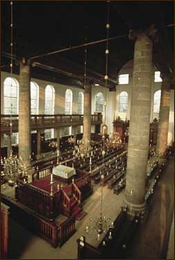 The Portuguese Synagogue in Amsterdam. The building was spared by the Nazis; Holland's Jewish population was not.