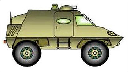 A concept for a lighter model Humvee.