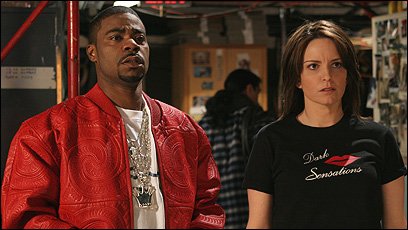Tracy Morgan (left) and Tina Fey star with Alec Baldwin, in NBC's new series '30 Rock.'