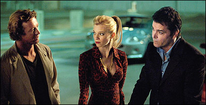 Ray Liotta (right), Amy Smart (center) and Simon Baker (left) star in 'Smith,' which was cancelled after only three episodes.