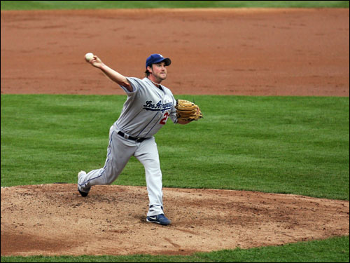 Derek Lowe apparently left his October magic in Beantown. Lowe had one start in the NLDS and pitched 5 1/3 innings, allowing four earned runs and striking out six as the Dodgers failed to advance past the Cards.