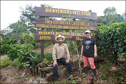 Flora Montenegro and her husband Antonio on their small coffee farm in the Jinotega region of Nicaragua, where they produce Fair Trade Certified coffee for export to the United States.