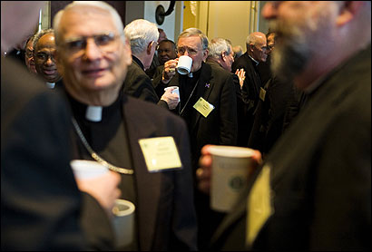 Bishops from around the nation met in Baltimore yesterday at the United States Conference of Catholic Bishops.