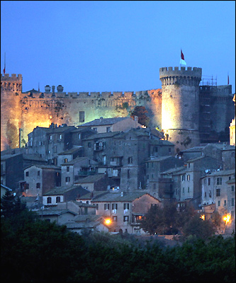 Odescalchi Castle in the lakeside town of Bracciano near the Italian capital