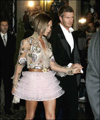 Victoria Beckham with husband David Beckham