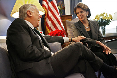 Incoming House majority leader Steny Hoyer and Speaker-elect Nancy Pelosi are seeking unity.