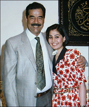 Hussein and daughter