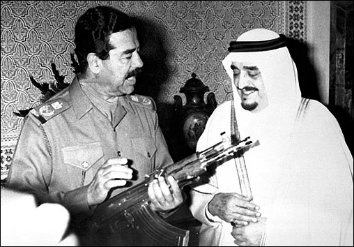 Hussein and King Fahd bin Abdul