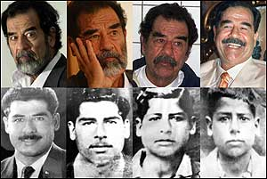 Saddam Hussein was born on April 28, 1937. This group of images traces his life from the late 1940s to his recent trial.