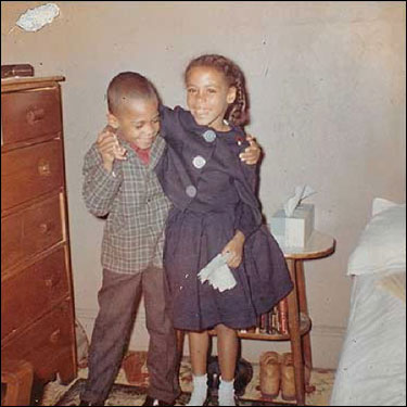 Deval Laurdine Patrick was born in his grandfather's bed July 31, 1956, in a two-story brick apartment on South Wabash Avenue in Chicago. He grew up on the South Side of Chicago, living with his mother, sister Rhonda (shown here), and grandparents. When he was 14, he was awarded a scholarship to attend Milton Academy.