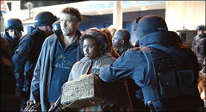 "Clive Owen and Claire-Hope Ashitey in Alfonso Cuarón's ""Children of Men."""