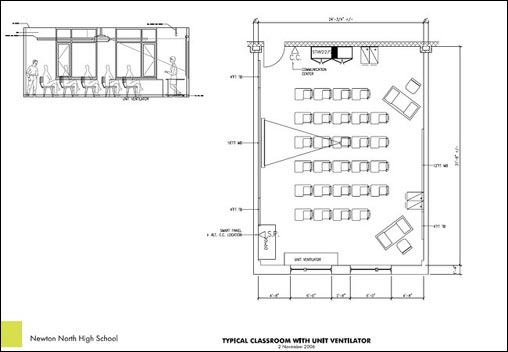 School Classroom Design Standards : Newton north high school boston