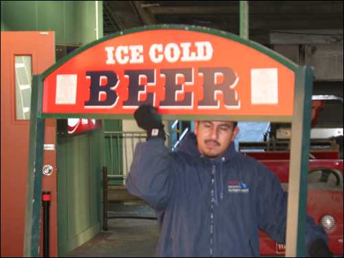 What's spring training without cold beer? ...