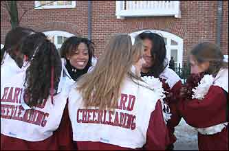 The Harvard cheerleaders