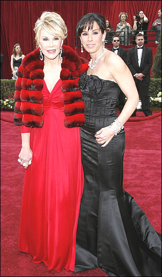 Joan Rivers and Melissa Rivers on the red carpet.