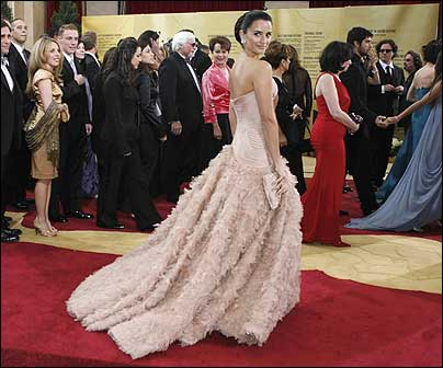 Penelope Cruz on the red carpet at the Academy Awards Sunday night.
