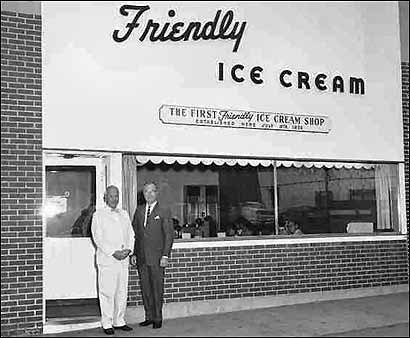 The Blake brothers, Prestley (left) and Curtis, in front of their first restaurant in Springfield.